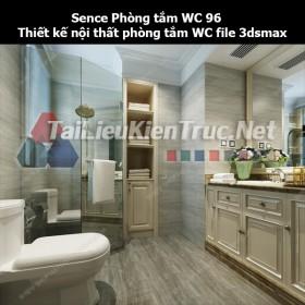 Sence Phòng tắm WC 96 - Thiết kế nội thất phòng tắm + Wc file 3dsmax