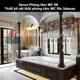 Sence Phòng tắm WC 98 - Thiết kế nội thất phòng tắm + Wc file 3dsmax