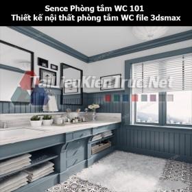 Sence Phòng tắm WC 101 - Thiết kế nội thất phòng tắm + Wc file 3dsmax