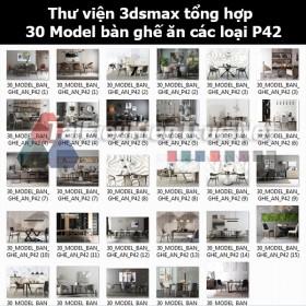 Thư viện 3dsmax tổng hợp 30 Model bàn ghế ăn các loại P42