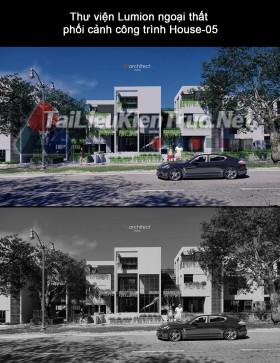 Thư viện Lumion ngoại thất phối cảnh công trình White house By B8architect studio