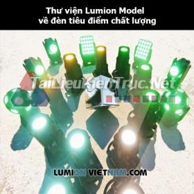 Thư viện Lumion Model về đèn tiêu điểm chất lượng