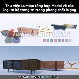 Thư viện Lumion Tổng hợp Model về các loại tủ kệ trang trí trong phòng chất lượng