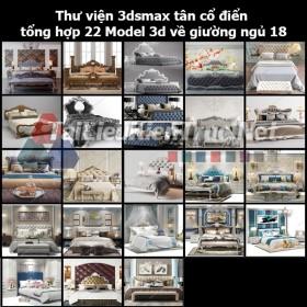 Thư viện 3dsmax tân cổ điển tổng hợp 22 Model 3d về Giường ngủ 18