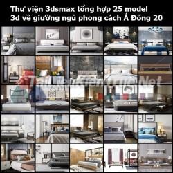 Thư viện 3dsmax tổng hợp 25 Model 3d về Giường ngủ phong cách Á Đông 20