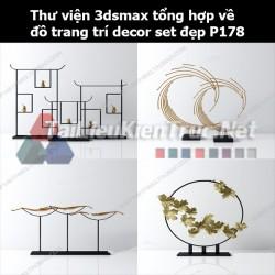 Thư viện 3dsMax tổng hợp về đồ trang trí decor set đẹp p178