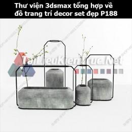 Thư viện 3dsMax tổng hợp về đồ trang trí decor set đẹp p188