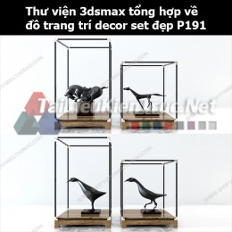 Thư viện 3dsMax tổng hợp về đồ trang trí decor set đẹp p191