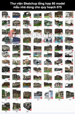 Thư viện Sketchup tổng hợp 80 Model mẫu nhà dùng cho quy hoạch 075