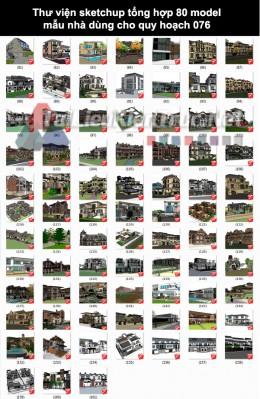 Thư viện Sketchup tổng hợp 80 Model mẫu nhà dùng cho quy hoạch 076