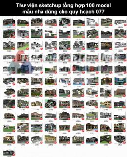 Thư viện Sketchup tổng hợp 100 Model mẫu nhà dùng cho quy hoạch 077