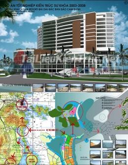 Đồ án tốt nghiệp kiến trúc sư - Khách sạn Resort Bài Dài Cam Ranh