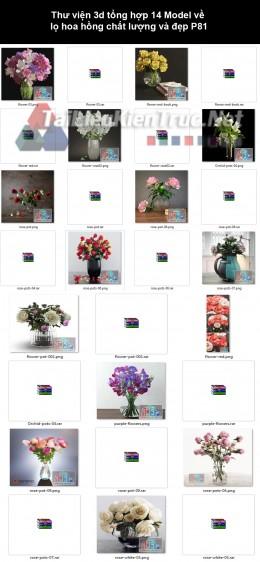 Thư viện 3d tổng hợp 14 Model về  lọ hoa hồng chất lượng và đẹp P81