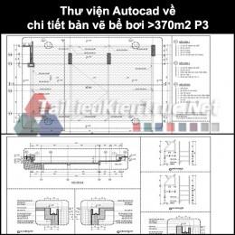Thư viện Autocad về chi tiết bản vẽ bể bơi >370m2 P3