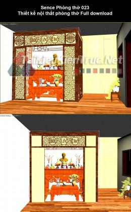 Sence Phòng thờ 023 - Thiết kế nội thất phòng thờ Full download