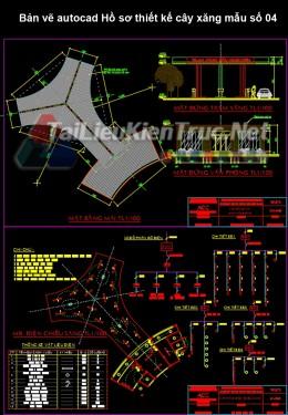 Bản vẽ autocad Hồ sơ thiết kế cây xăng mẫu số 04