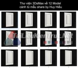 Thư viện 3DsMax về 12 Model cánh tủ mẫu share by Huy Hiếu