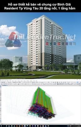 Hồ sơ thiết kế bản vẽ chung cư Bình Giã Resident - TP. Vũng Tàu 20 tầng nổi, 1 tầng hầm