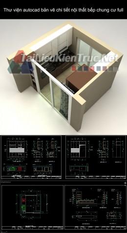 Thư viện autocad bản vẽ chi tiết nội thất bếp chung cư full