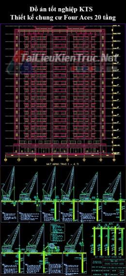 Đồ án tốt nghiệp KTS - Thiết kế chung cư Four Aces 20 tầng