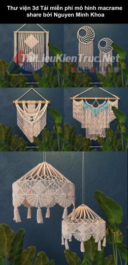 Thư viện 3d Tải về MIỄN PHÍ mô hình macrame share bởi Nguyen Minh Khoa