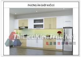 Hồ sơ thiết kế phương án modul tủ bếp chia sẻ bởi Huy Hiếu