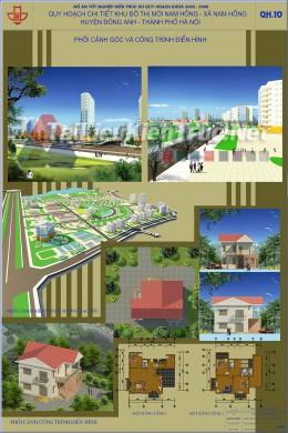 Đồ án tốt nghiệp KTS - Quy hoạch Khu Đô Thị Mới Nam Hồng - Xã Nam Hồng - Đông Anh - Hà Nội