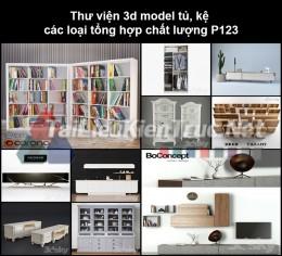 Thư viện 3d model tủ, kệ các loại tổng hợp chất lượng P123