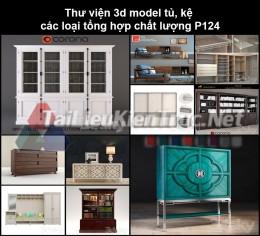 Thư viện 3d model tủ, kệ các loại tổng hợp chất lượng P124