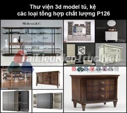 Thư viện 3d model tủ, kệ các loại tổng hợp chất lượng P126
