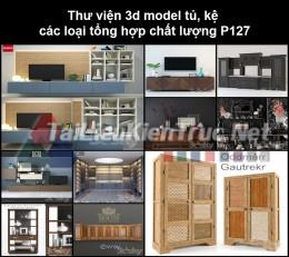 Thư viện 3d model tủ, kệ các loại tổng hợp chất lượng P127