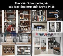 Thư viện 3d model tủ, kệ các loại tổng hợp chất lượng P128