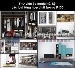 Thư viện 3d model tủ, kệ các loại tổng hợp chất lượng P130