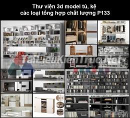 Thư viện 3d model tủ, kệ các loại tổng hợp chất lượng P133