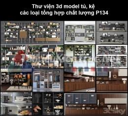 Thư viện 3d model tủ, kệ các loại tổng hợp chất lượng P134
