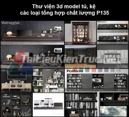 Thư viện 3d model tủ, kệ các loại tổng hợp chất lượng P135