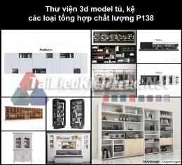 Thư viện 3d model tủ, kệ các loại tổng hợp chất lượng P138