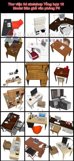 Thư viện 3d sketchup Tổng hợp 18 Model Bàn ghế văn phòng P5