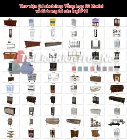 Thư viện 3d sketchup Tổng hợp 68 Model về tủ trang trí các loại P11