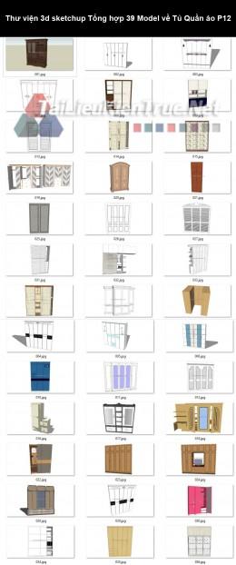 Thư viện 3d sketchup Tổng hợp 39 Model về Tủ Quần áo P12