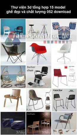 Thư viện 3d Tổng hợp 15 model ghế đẹp và chất lượng 052 download