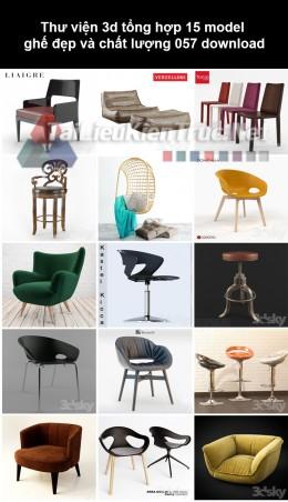 Thư viện 3d Tổng hợp 15 model ghế đẹp và chất lượng 057 download