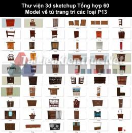 Thư viện 3d sketchup Tổng hợp 60 Model về tủ trang trí các loại P13