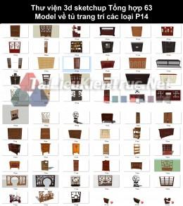Thư viện 3d sketchup Tổng hợp 63 Model về tủ trang trí các loại P14
