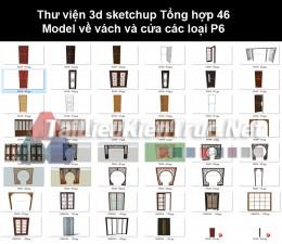 Thư viện 3d sketchup Tổng hợp 46 Model về vách và cửa các loại P6