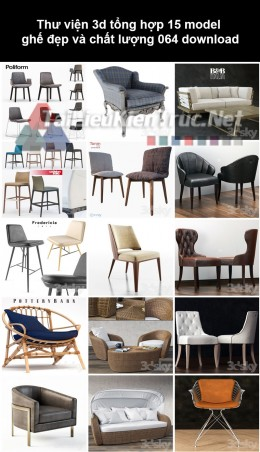 Thư viện 3d Tổng hợp 15 model ghế đẹp và chất lượng 064 download