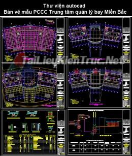 Thư viện autocad Bản vẽ mẫu PCCC Trung tâm quản lý bay Miền Bắc