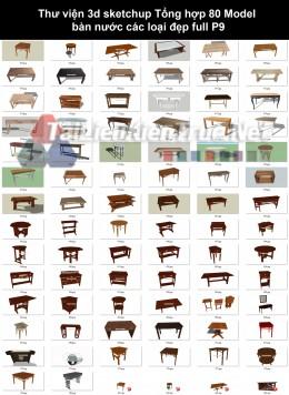 Thư viện 3d sketchup Tổng hợp 80 Model bàn nước các loại đẹp full P9