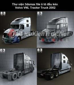 Thư viện 3dsmax file ô tô đầu kéo Volvo VNL Tractor Truck 2002