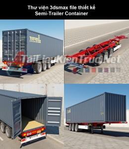 Thư viện 3dsmax file thiết kế Semi-Trailer Container
